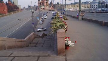 Обстановка на месте происшествия (убийство Б.Немцова)